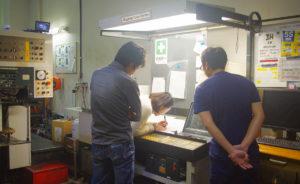 星野富弘さんのカレンダーの印刷が始まっています
